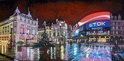 Piccadilly Circus by Stephen Collett -  sized 24x12 inches. Available from Whitewall Galleries